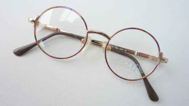 Bunte Nickelbrille Metallgestell Kinderfassung neu rund stabil Kids frame size M