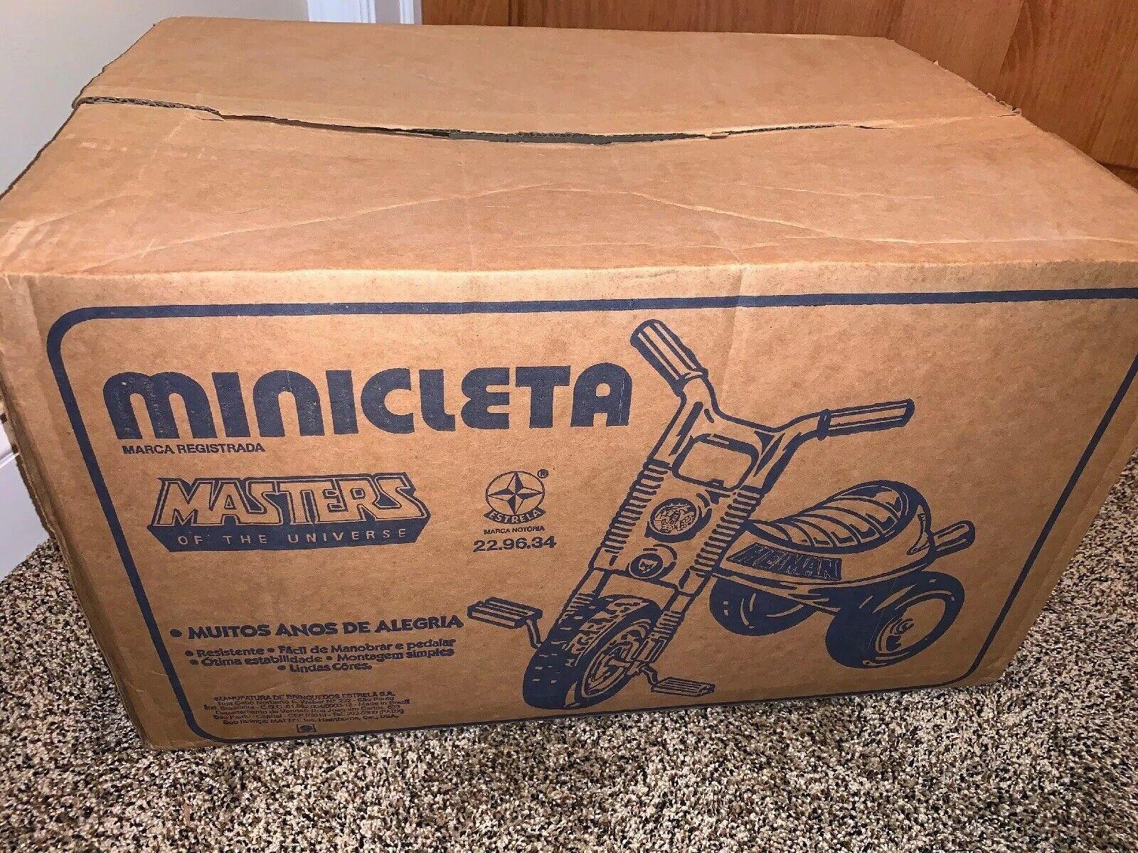 Vintage 1980's MOTU Estrela MASTERS of the UNIVERSE Minicleta Tricycle Unused