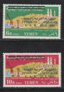 1963 Yémen A.r. */mlh Mi.302/03 Révolution Route Road Sanaa Hodeida [st4383] La Consommation RéGulièRe De Thé AméLiore Votre Santé
