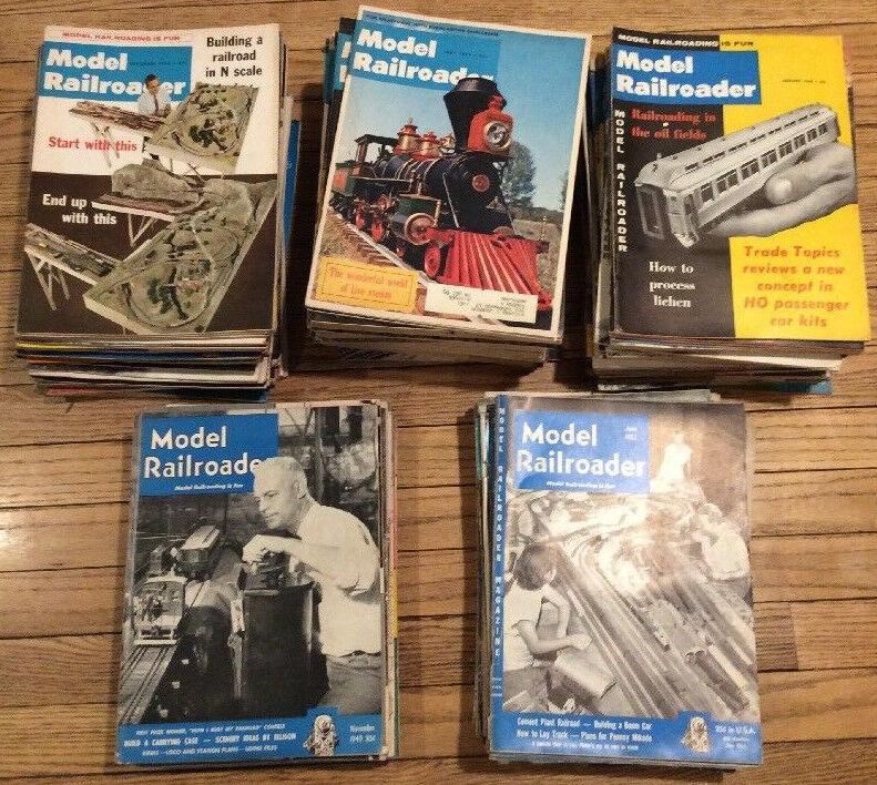 Model Railroader Magazine 1940's to 1980's 151 Total