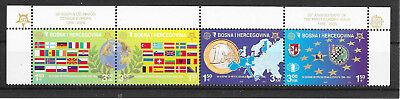 Briefmarken L323 Bosnien-herzegowina/ 50 Jahre Cept-marken Minr 419/22 A ** Viererstreifen
