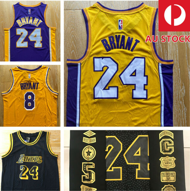 Nike Lakers Kobe Bryant 24 Black Mamba City Jersey 3xl 60 Swingman Home Away 8 For Sale Online Ebay