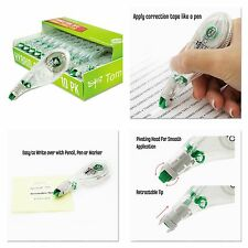 White Out Correction Tape Pen Stationery Office Paper Retractable Tip (10 Pk)