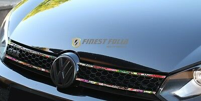 Stickerbomb Grill Stripes VW POLO 6C 6R 9N3 9N 6N GTI Aufkleber Folie Carbon R