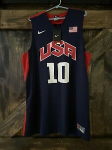 Details about Kobe Bryant 2012 USA Basketball Olympic Jersey Mens Large L Tags Navy Blue Rare