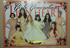 "SNSD ""LION HEART"" Official Poster 5th Album Girl's Generation Tube Case Unfolded"