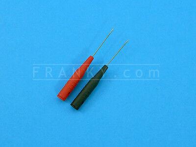 ETA3202 Slip-On Extra Thin and Sharp 0.7mm Probe Tips (1 Pair Red + Black)
