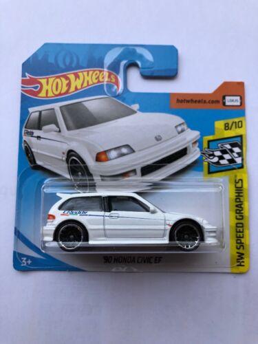 Hot Wheels '90 Honda Civic EF weiß HW Speed Graphics 8//10 2019 NEU