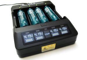 XTAR-VP4-Intelligentes-LCD-Premium-Lithium-Ionen-4-Kanal-Ladegeraet-18650-CC-CV