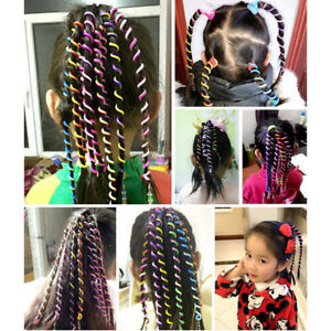 New 6 Pcs/Set Kids Curler Hair Braid Hair Sticker Baby Girls\' Decor ...