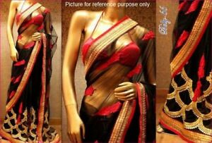 Indian-Net-Saree-BOL-66-Sari-Salwar-Kameez-Bollywood-dresses