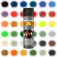 Rust-Oleum Hard Hat® Aerosol Spray Paint Satin Gloss Matt 500ml Red Black Blue..