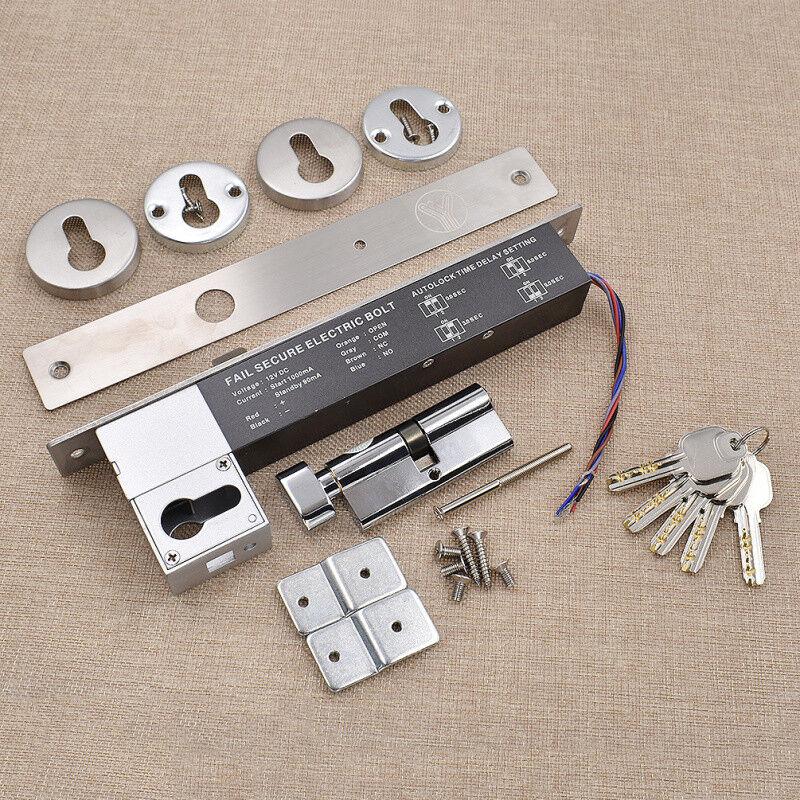 Electric cerrojo Perno Cerradura A prueba de fallas para puerta de seguridad sistema de control de acceso