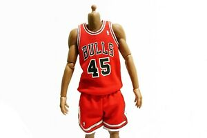 los angeles b5825 c16ce Details about New 1/6 NBA Chicago Bulls 45 Michael Jordan Away Jersey Red  For Enterbay Figures