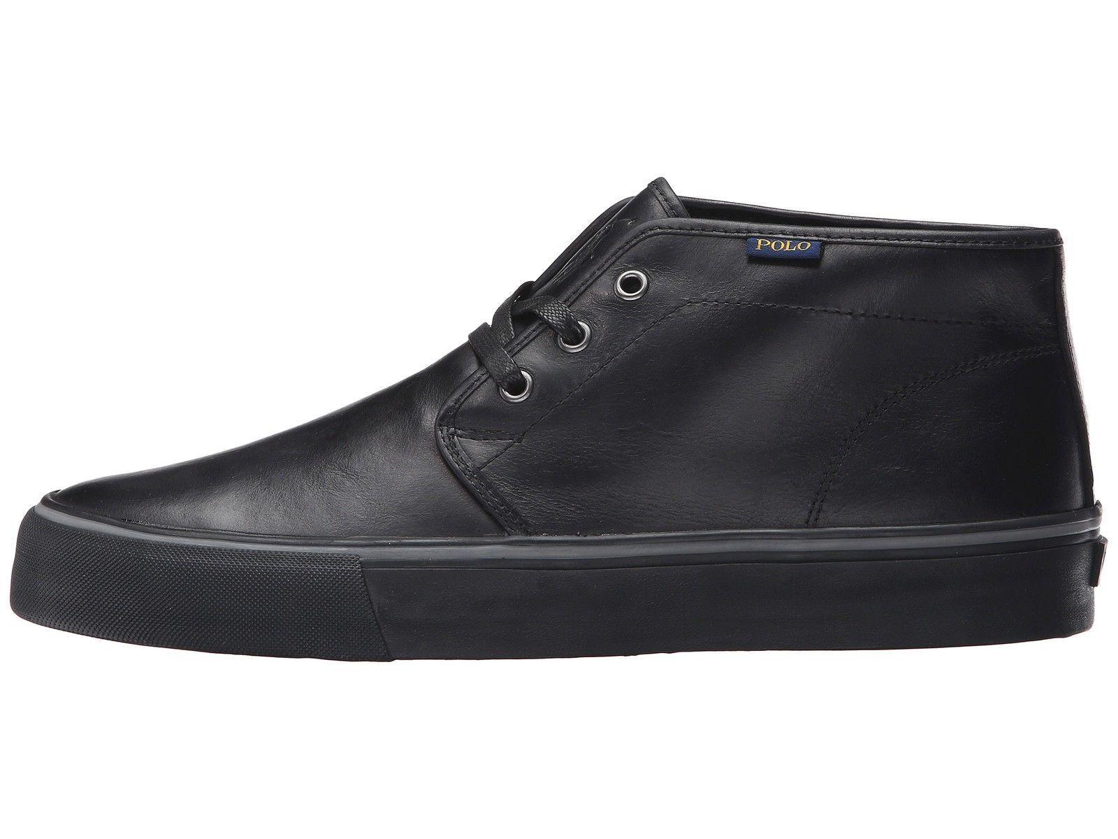 POLO RALPH LAUREN - MAYKN - Men's Chukka Ankle Boots - Black Leather - Size 10 M