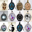 Novelty-Cabochon-Tibetan-silver-Round-Glass-Pendant-Chain-Necklace-Gift-1PC thumbnail 2