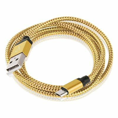 Braided USB Kabel Micro Aluminium Samsung Galaxy A5 S5 S6 Ladekabel Datenkabel