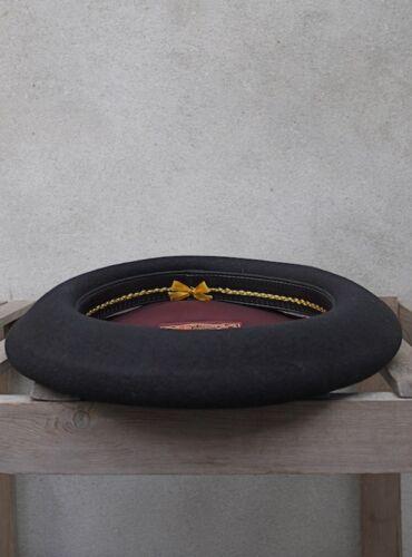 100/% Lana Vergine-Made in France da laulhere Campan Lusso Nero Basque basco
