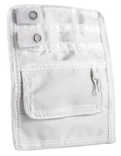 White Color EMI Nurse Nylon 5 Pocket Organizer Scrub Uniform Pal /& Belt loop