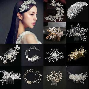 Crystal-Flower-Wedding-Prom-Bridal-Bridesmaid-Pearl-Hair-Comb-Hairpin-Clip-Tiara