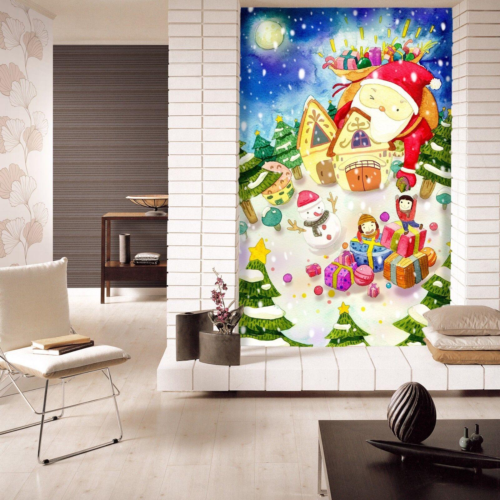 3D Santa Claus 504 Wallpaper Murals Wall Print Wallpaper Mural AJ WALLPAPER UK