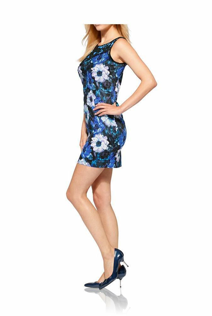 TCJ TCJ TCJ 006.337 elegantes Kleid Designerkleid mit Spitze Freizeit Sommer blau bunt   Um Sowohl Die Qualität Der Zähigkeit Und Härte    König der Quantität    Shopping Online  d27fad