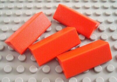 LEGO Lot of 4 Blue 2x4 Roof Slope Pieces