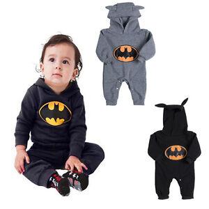 a855fb6b1 Infant Toddler Baby Boy Girl Romper Batman Bodysuit Jumpsuit Clothes ...