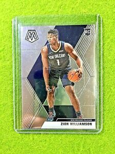 ZION-WILLIAMSON-MOSAIC-RC-ROOKIE-CARD-JERSEY-1-PELICANS-2019-20-Panini-Mosaic