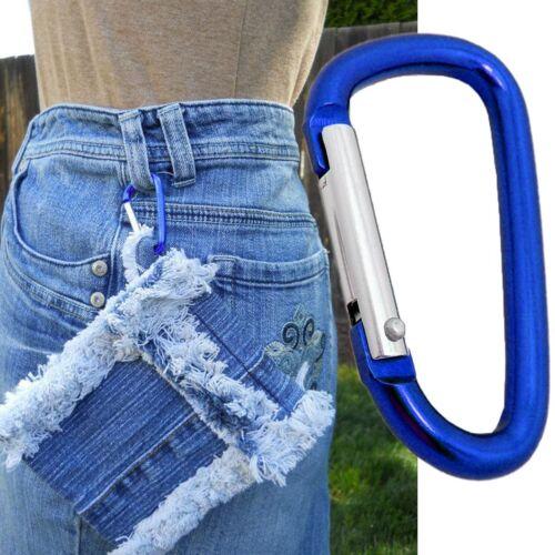 5Pcs Multi-Function Carabiner Locking Clip Camping Snap Hook Keychain Keyfob