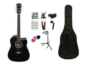 Christmas Gift ! Acoustic Guitar for beginners Full package 41 inch full size Black Brand New Canada Preview
