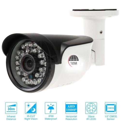 AHD CCTV Camera 1080P1.3MP 3.6mm IR NightVision Outdoor Security CAM Waterproof