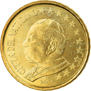 [#856542] Cité du Vatican, Jean-Paul II, 10 Euro Cent, 2004, Rome, SPL, Laiton,