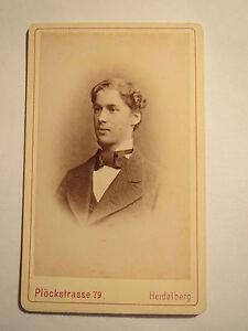 Bien Informé Heidelberg-j. Sonnette Comme étudiant En Ws 1877/78 - Cdv/studentika-afficher Le Titre D'origine Vente De Fin D'AnnéE