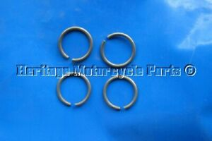 4 new metal VALVE GUIDE CIRCLIPS to fit TRIUMPH T140 T100 T20 BSA C15 valves