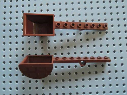 Lego 2 x Catapult Slingshot 30275 Maroon 8813 7094 8823 7019