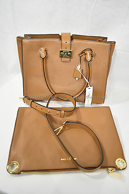 Michael Kors Mercer Bond Large Leather Satchel /Shoulder Bag or Clutch in Acorn