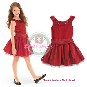 American Girl CL MY AG JOYFUL JEWELS DRESS SIZE 12 for Girls Gown Holiday NEW