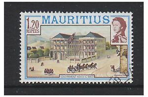 Mauritius - 1978 , 1r20 Gobierno Casa Sello - No Estampa Fecha - Usado - Sg 540a