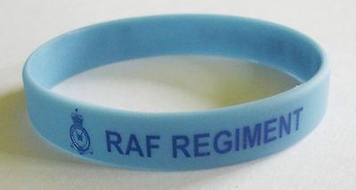 RAF Regiment rubber bracelet