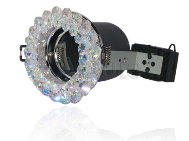 Fire Rated Crystal Downlight-Orbis Topaz Bleu (CYS023) - AMPOULE GU10 (Spot)