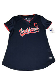 Mothers-Day-Cleveland-Indians-MLB-Women-Shirt-Metallic-Graphic-SzM-New-With-Tags