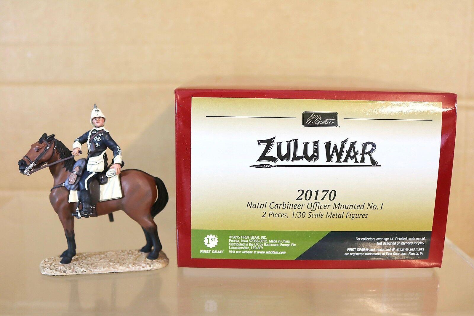 BRITAINS 20170 ZULU WAR NATAL CARBINEER MOUNTED OFFICER No 1 MINT BOXED nq