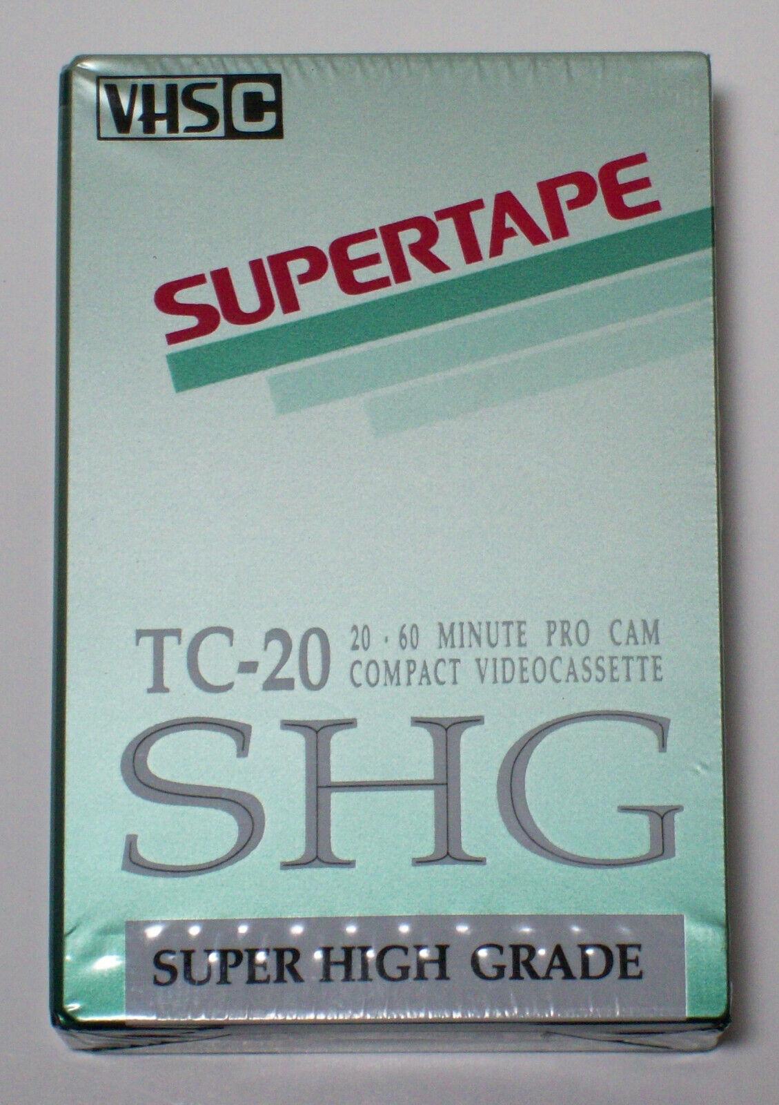 Radio Shack Blank VHSC TC-20 Supertape SHG Super High Grade Tandy Japan Sealed