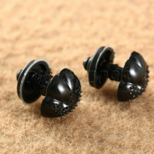 100Pcs Negro Plástico Seguridad narices Botones hágalo usted mismo Craft oso de peluche animales muñeca de juguete