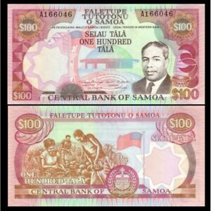 Western Samoa 100 Tala 1990 Unc-p 30 Chills And Pains Africa Paper Money: World
