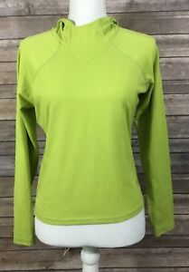 732a08b59 Details about Mountain Hardwear Womens Pullover Lightweight Hoodie Small  Green Stretch EUC Q1