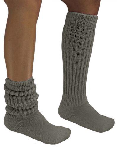 3 Pair Slouch Scrunchie Socks Charcoal Black White Flaws Hooters Uniform Long