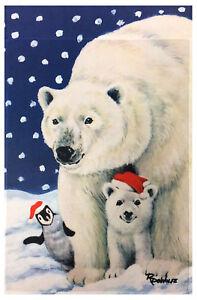 polar bears penguin garden flag 12 x18 winter christmas. Black Bedroom Furniture Sets. Home Design Ideas