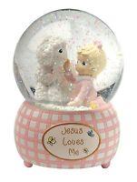 Precious Moments Jesus Loves Me Snow Globe Resin Girl 102403